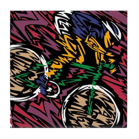 Biking Tile Coaster