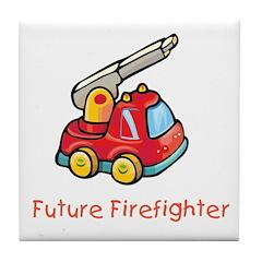 Future Firefighter Tile Coaster