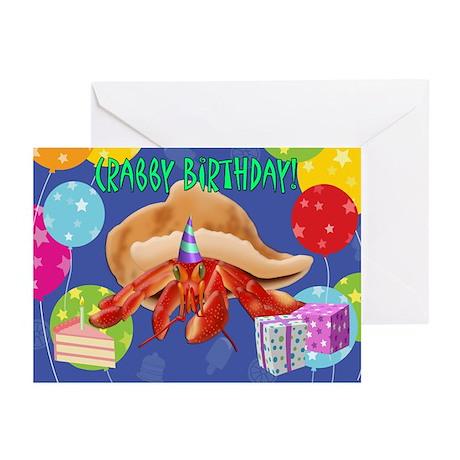 Crabby Birthday Greeting Cards (Pk of 20)