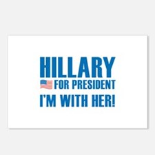 Hillary For President Postcards (Package of 8)