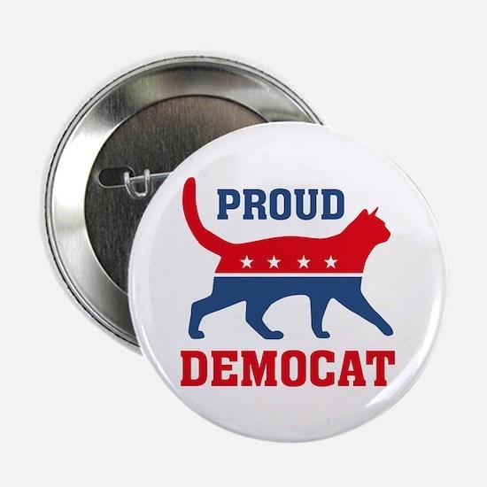 """Proud Democat 2.25"""" Button"""