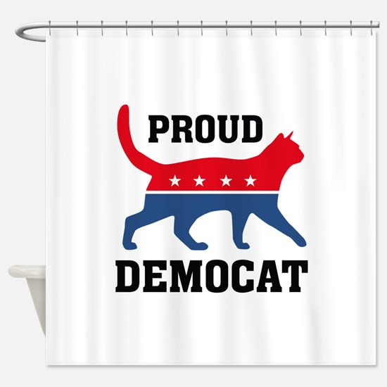 Proud Democat Shower Curtain