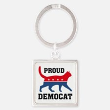 Proud Democat Square Keychain