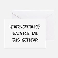 Heads or Tails? Greeting Cards