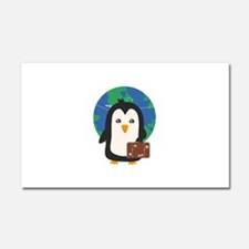 Penguin world traveler Car Magnet 20 x 12