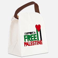 Cute Free palestine Canvas Lunch Bag