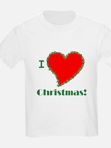 I Love Christmas Heart T-Shirt