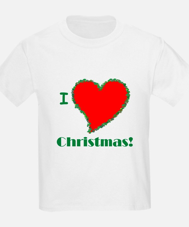 I Love Christmas Heart T-Shirt