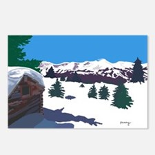 Winter Mountain Cabin Postcards (Package of 8)
