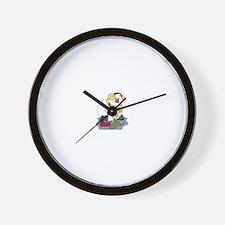 Snowman Curling Wall Clock