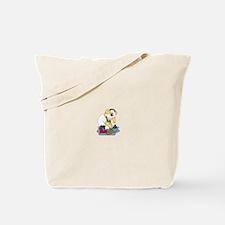 Snowman Curling Tote Bag