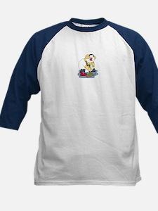 Snowman Curling Kids Baseball Jersey
