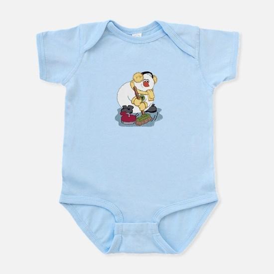 Snowman Curling Infant Bodysuit