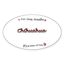 Chihuahua Breathe Oval Decal