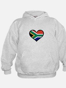South Africa Love Heart Hoodie