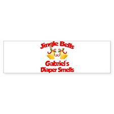 Gabriel - Jingle Bells Bumper Bumper Sticker