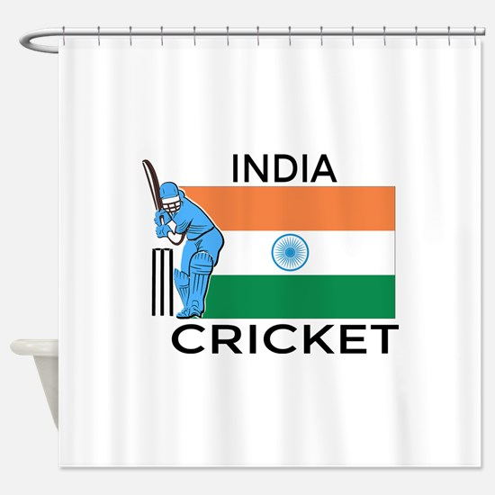 India Cricket Shower Curtain