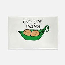 Uncle of Twins Pods Rectangle Magnet
