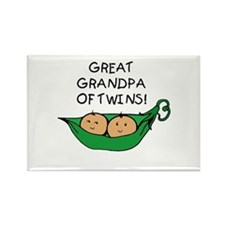 Great Grandpa Twin Rectangle Magnet