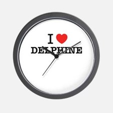 I Love DELPHINE Wall Clock
