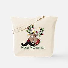 Merry Moostache Tote Bag