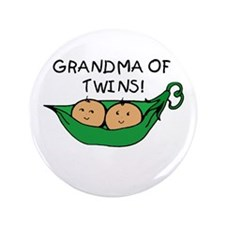 "Grandma of Twins Pod 3.5"" Button"