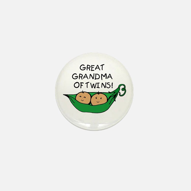 Great Grandma Twins Pod Mini Button