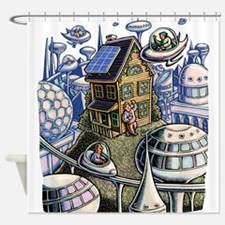 City of the Future, with Old House Shower Curtain