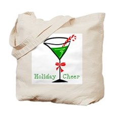 Candy Cane Martini Tote Bag