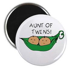 Aunt of Twins Pod Magnet