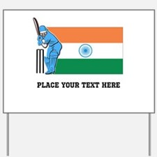 Personalize India Cricket Yard Sign
