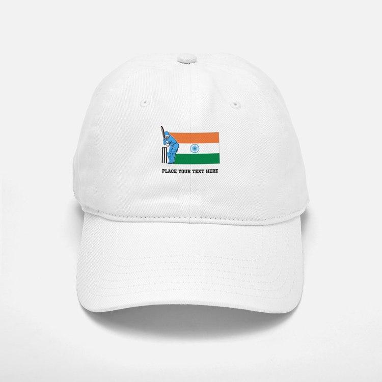 Personalize India Cricket Baseball Baseball Cap