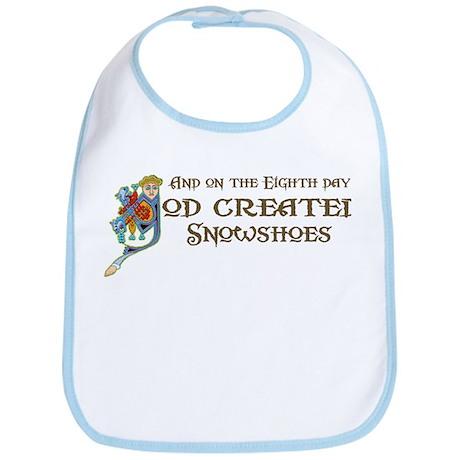 God Created Snowshoes Bib