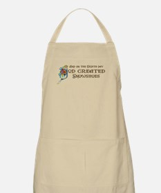 God Created Snowshoes BBQ Apron