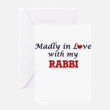 Madly in love with my Rabbi Greeting Cards