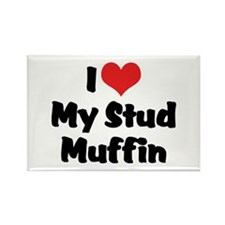 I Love My Stud Muffin Rectangle Magnet (10 pack)