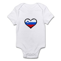 Slovenia Love Heart Infant Bodysuit