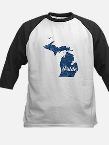 Michigan Pride Kids Baseball Jersey