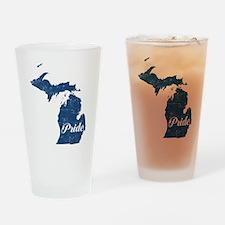Michigan Pride Drinking Glass