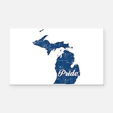 Michigan Pride Rectangle Car Magnet