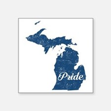 "Michigan Pride Square Sticker 3"" x 3"""