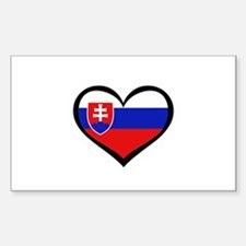 Slovakia Love Heart Rectangle Decal