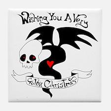 Gothic Christmas Monster Tile Coaster
