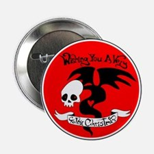"Gothic Christmas Monster 2.25"" Button"