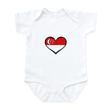 Singapore Love Heart Infant Bodysuit