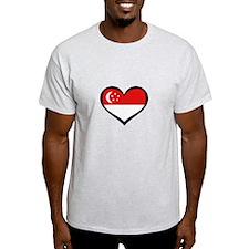 Singapore Love Heart T-Shirt