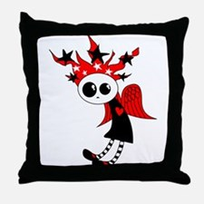 Gothic Xmas Fairy Throw Pillow