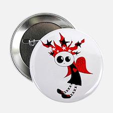 """Gothic Xmas Fairy 2.25"""" Button"""