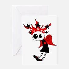 Gothic Xmas Fairy Greeting Card