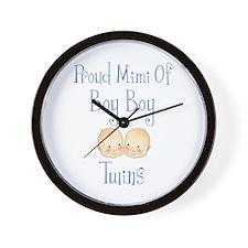 Proud Mimi Of Boy Twins Wall Clock